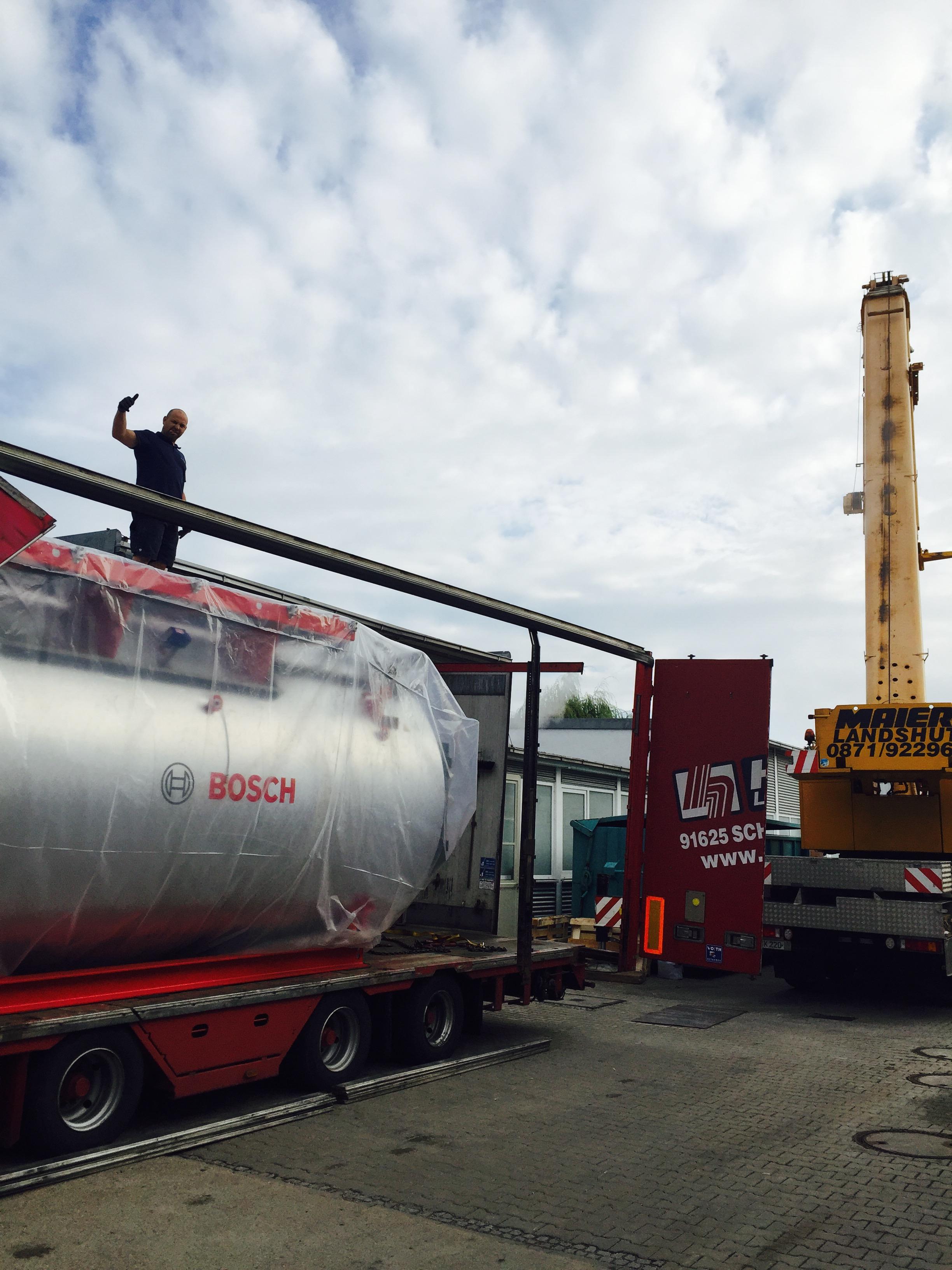 Neuer Bosch Dampfkessel für URZINGER Textilmanagement in Landshut ...